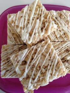 Golden Oreos Rice Krispie Treats