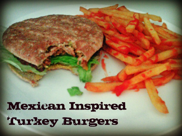 Mexican Inspired Turkey Burgers