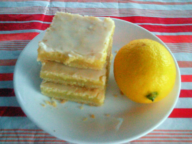 Sunburst Lemon Bars Stacked