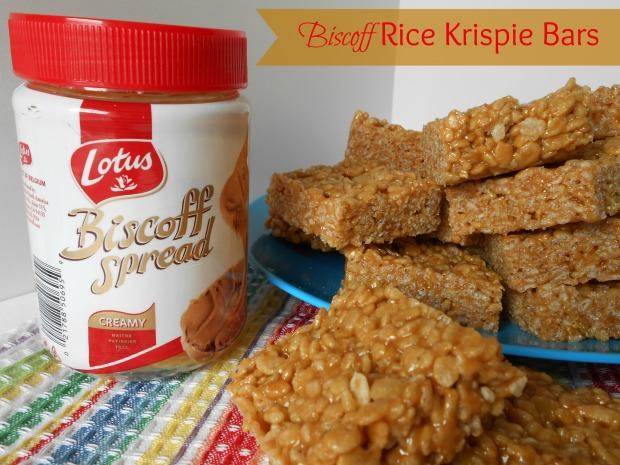 Biscoff Rice Krispie Bars