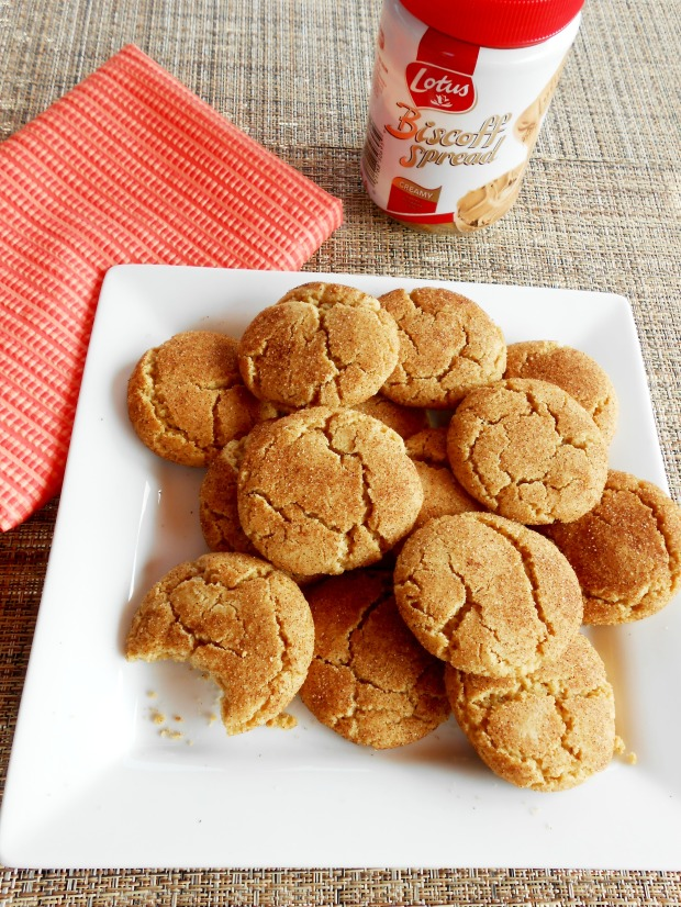 Biscoff Snickerdoodles with jar