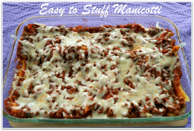 Easy To Stuff Manicotti with text