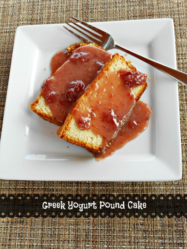 Greek Yogurt Pound Cake with text