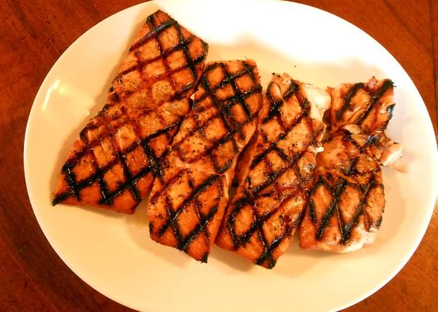 Salmon on Platter